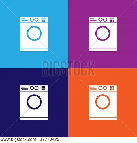 Washing Machine Icon. Bathroom And Sauna Element Icon. Signs, Outline Symbols Collection Icon For We