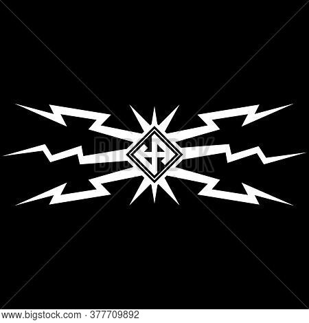 Viking Scandinavian Design. Lightning And Scandinavian Runes