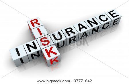 3D Crossword Of 'insurance Risk'