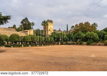 View Of The Gardens Of The Alcazar Of The Christian Monarchs, Alcazar De Los Reyes Cristianos In Cor