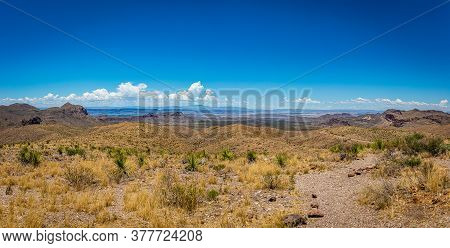 View To The West Into Mexico From The Sotol Vista Overlook Of The Chihuahuan Desert And Chisos Mount