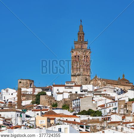 Church Of San Bartolome At Jerez De Los Caballeros, Badajoz, Extremadura In Spain.