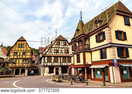 Traditional Half-timbered Houses In Obernai - Bas-rhin, France
