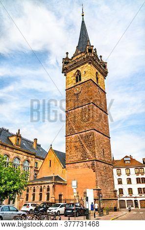 The Clock Tower In Obernai - Bas-rhin, France