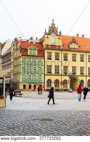 WROCLAW, POLAND - October 31, 2019: wroclaw Town Hall is a historic city hall in the city of wroclaw, Poland