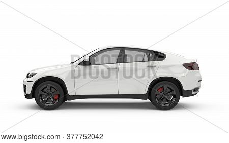 Generic Unbranded Luxury City Car Isolated, Mockup, 3d Illustration