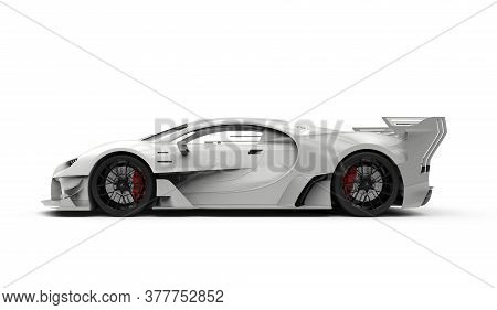 Luxury Generic Unbranded Sport Car, 3d Illustration