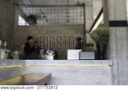 Indoor Coffee Shop Loft Surrounding, Stock Photo