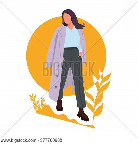 Beautiful Young Woman. Fashion Model Posing. Casual Style. Stock Vector Illustration Of Fashion. Gir