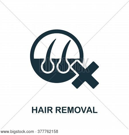 Hair Removal Icon. Simple Element From Beauty Salon Collection. Creative Hair Removal Icon For Web D