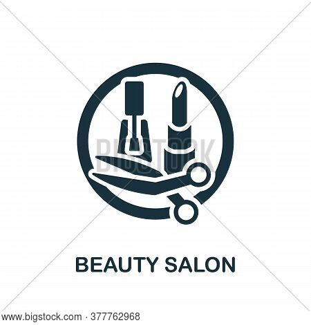 Beauty Salon Icon. Monochrome Simple Beauty Salon Icon For Templates, Web Design And Infographics