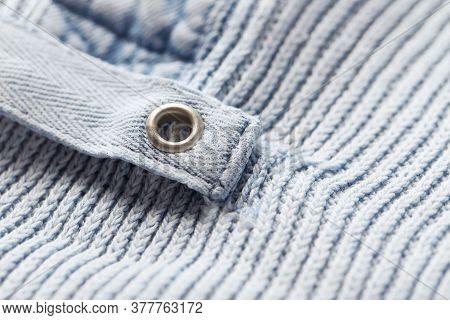 Close Up Of Cotton Fabric. Fashion Background.
