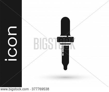 Grey Pipette Icon Isolated On White Background. Element Of Medical, Chemistry Lab Equipment. Pipette