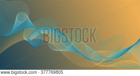 Background Curved Lines Intersection Shapes. Gradient Curves Flow Effect Illusion Fancy Background.