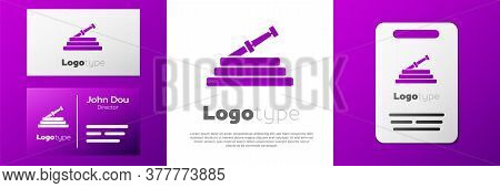 Logotype Garden Hose Or Fire Hose Icon Isolated On White Background. Spray Gun Icon. Watering Equipm
