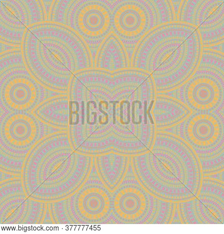Delicate Moroccan Zellige Tile Seamless Ornament. Ethnic Structure Vector Swatch. Plaid Print Design