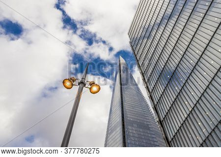 July 2020. London. The Shard Building In London In England