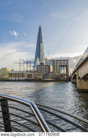 July 2020. London. The Shard And The River Thames In London