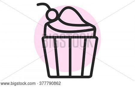 Cupcake Icon. Cake, Muffin Web Icon. Concept Of Dessert. For Restaurant Websites. Vector Illustratio