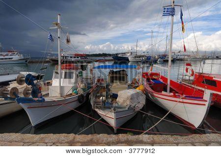Fishing Boats Safe At Bay