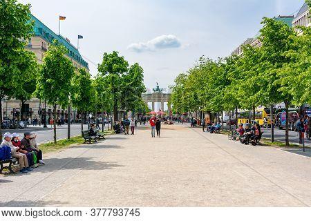 Unter Den Linden Street In Center Of Berlin, Germany - May 2019
