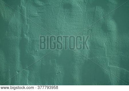 Abstract Grunge Decorative Dark Green Wall Background. Art Texture Banner With Space For Text