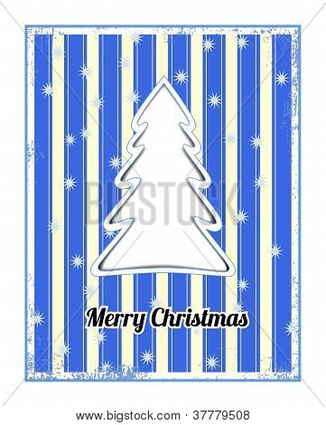Striped christmas card