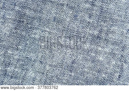 Close Up Of Linen Fabric. Top View.