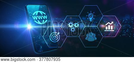 World Wide Web Concept Globe Icon Set. Planet Web Symbol Set. Planet Icon With World Wide Web Sign.b