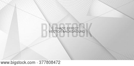 Halftone Dynamic Gray Vector Background. Edgy Art. Halftone Wallpaper. Geometric Dots Texture. Minim