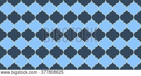 Turkish Mosque Window Motif. Seamless Moroccan Texture Eid Mubarak Islamic Background. Seamless Moro
