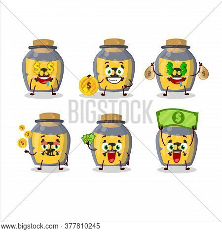 Dangerous Potion Cartoon Character With Cute Emoticon Bring Money