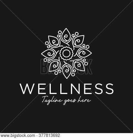 Salon And Spa Logo Vector Logo For Beauty Woman And Relaxation Treatments, Vector Female Fashion Log