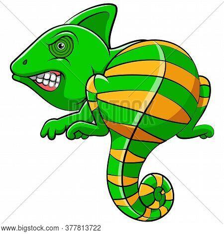 A Cute Iguana Animal Cartoon Of Illustration