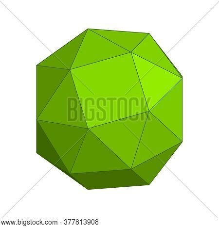 Wire Frame Style Design. Platonic Solid Design.