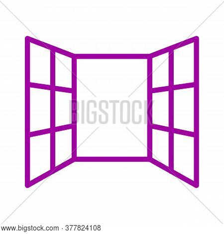 Open Windows Vector Sketch Icon Isolated On Background. Hand Drawn Open Windows Icon. Open Windows S