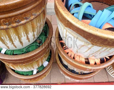 Plant Pots Terracotta Clay Garden Supply Store New Imported Cardboard Packaging Ornate Design