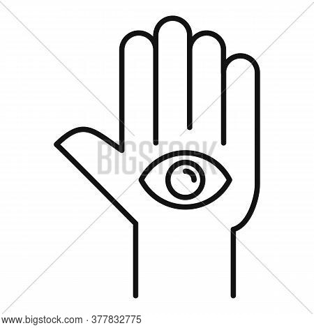 Spa Eye Hand Icon. Outline Spa Eye Hand Vector Icon For Web Design Isolated On White Background