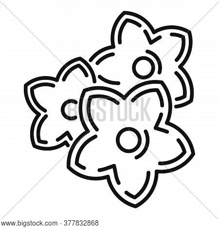 Spa Flowers Icon. Outline Spa Flowers Vector Icon For Web Design Isolated On White Background