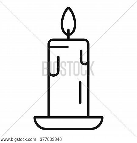 Eco Wax Candle Icon. Outline Eco Wax Candle Vector Icon For Web Design Isolated On White Background