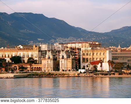 Palermo, Porta Del Sole Seen From The Sea