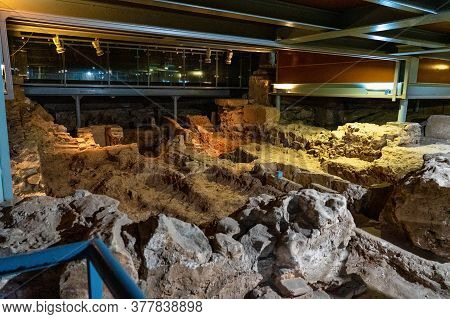 Merida, Spain - November 05, 2019: Crypt Of Santa Eulalia. Ancient Paleochristian Necropolis Located