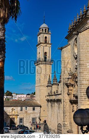 Jerez De La Frontera, Spain - Nov 15, 2019: Dome Of The Jerez De La Frontera Cathedral, Catedral De