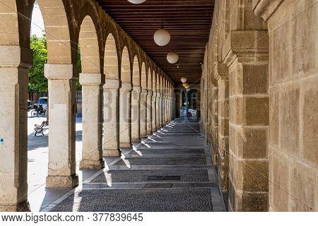 Jerez De La Frontera, Spain - Nov 15, 2019: Plaza Del Arenal, Big Square In Jerez De La Frontera Cad
