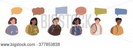Diversity Of Children - Avatar Userpic Portraits Of Schoolboys And Schoolgirls Of Different Ethnicit