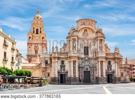 Cathedral Church Of Saint Mary In Center Of Murcia, Spain