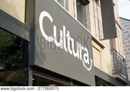 Bordeaux , Aquitaine / France - 07 22 2020 : Cultura Logo Sign Text For Shop Facade