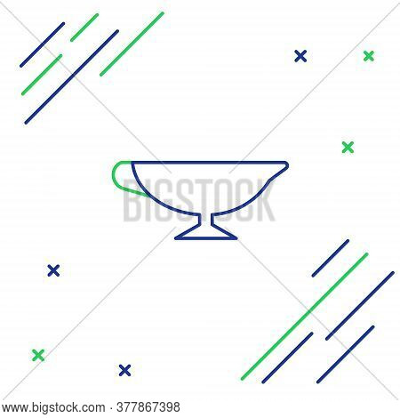Line Sauce Boat Icon Isolated On White Background. Sauce Bowl. Colorful Outline Concept. Vector