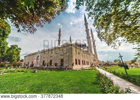 Edirne - Turkey: View Of The Selimiye Mosque, The Masterpiece Of Famous Architect Mimar Sinan And On