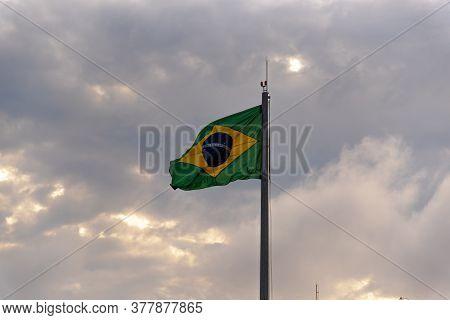 Brazil\'s Flag. Pavilion. Symbol Of The Republic. National Symbols. Flag Flying. The National Flag I